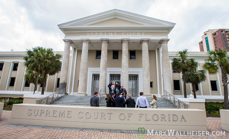 A line forms outside the Florida Supreme Court for the investiture of the Honorable Alan Lawson as the 86th Justice of The Supreme Court of Florida in Tallahassee, Florida