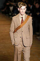 Milo walks runway in an outfit from the Marc by Marc Jacobs Fall/Winter 2011 collection, during New York Fashion Week, Fall 2011.