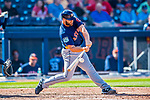 28 February 2017: Houston Astros designated hitter Evan Gattis in action during the Spring Training inaugural game against the Washington Nationals at the Ballpark of the Palm Beaches in West Palm Beach, Florida. The Nationals defeated the Astros 4-3 in Grapefruit League play. Mandatory Credit: Ed Wolfstein Photo *** RAW (NEF) Image File Available ***