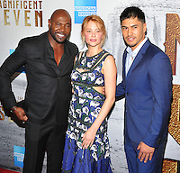 New York, NY- September 19:  Antoine Fuqua, Haley Bennett, Martin Sensmeier attends the 'The Magnificent Seven' New York premiere at Museum of Modern Art on September 19, 2016 in New York City@John Palmer / Media Punch
