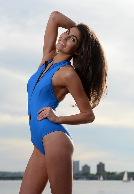 (Boston, MA, 06/17/15) Simone Aptekman, 21, models a swimsuit Daniela Corte in Boston  on Wednesday, June 17, 2015. Staff photo by Christopher Evans