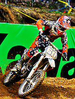 Kellian Rusk during the first moto of the 250 class at the Lucas Oil AMA Pro Motocross at Budds Creek National in Mechanicsville, Maryland on Saturday, June 18, 2011. Alan P. Santos/DC Sports Box