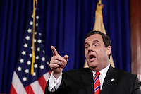 TRENTON, NJ - MARCH 28 : New Jersey Gov. Chris Christie speaks during a press conference in on March 28, 2014, in Trenton. After The chairman of the Port Authority of New York and New Jersey, David Samson, gave his resignation to Christie due to the investigation into lane closures on the George Washington Bridge VIEWpress/Kena Betancur