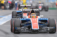 March 19, 2016: Pascal Wehrlein (GER) #94 from the Manor Racing leaving the pits for qualifying at the 2016 Australian Formula One Grand Prix at Albert Park, Melbourne, Australia. Photo Sydney Low