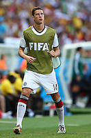 Julian Draxler of Germany warms up on the touchline