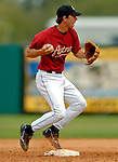 10 March 2006: Ben Zobrist, infielder for the Houston Astros, makes a play at second during a Spring Training game against the Washington Nationals. The Astros defeated the Nationals 8-6 at Osceola County Stadium, in Kissimmee, Florida...Mandatory Photo Credit: Ed Wolfstein..