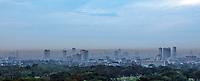 Heavy smog, pollution over Metro Manila, Philippines