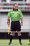 07 September 2014: Assistant referee Clifton H. Clement. The University of North Carolina Tar Heels played the University of Arkansas Razorbacks at Koskinen Stadium in Durham, North Carolina in a 2014 NCAA Division I Women's Soccer match. UNC won the game 2-1.