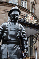Firemen Memorial in Gordon Street, Glasgow, Scotland
