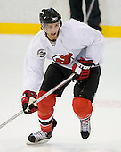Travis Zajac takes part in the  first session on Saturday, September 15, 2007 of the New Jersey Devils training camp on Rink 2 of the Richard E. Codey Arena at South Mountain in West Orange, New Jersey...