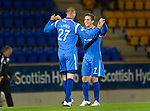 St Johnstone v Queen of the South...21.09.10  CIS Cup 3rd Round.Marcus Haber celebrates his goal with Chris Millar.Picture by Graeme Hart..Copyright Perthshire Picture Agency.Tel: 01738 623350  Mobile: 07990 594431