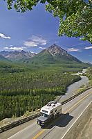 King mountain, Matanuska river along the Glenn Highway, Chugach mountains. Alaska