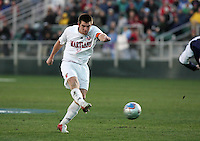 Maryland's Jason Garey takes a shot. The University of Maryland Terrapins defeated the Southern Methodist University Mustangs 4-1 in a Men's College Cup Semifinal at SAS Stadium in Cary, NC, Friday, December 9, 2005.