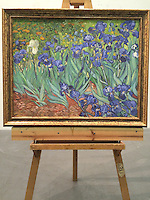 "Irises by Vincent Van Gogh (image size comes to 29.25"" x 38"") Plus Framed Dimensions 44"" x 35.25"""