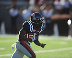 Ole Miss running back Jeff Scott (3) returns a kick-off at Vaught-Hemingway Stadium in Oxford, Miss. on Saturday, September 4, 2010. Jacksonville State won 49-48 in double overtime.