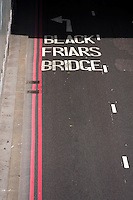Blackfriars Underpass Road, London, Britain - Aug 2013.
