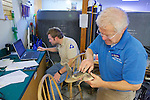 Bob Prescott Examining Olive Ridley Sea Turtle, Sanctuary Director, Welfleet Bay Wildlife Sanctuary, Audubon