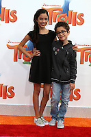 WESTWOOD, CA - OCTOBER 23: Jenna Ortega, Nicolas Bechtel at the premiere Of 20th Century Fox's 'Trolls' at Regency Village Theatre on October 23, 2016 in Westwood, California. Credit: David Edwards/MediaPunch