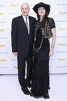 Thomas F. Schutte - Pratt Institute President, and fashion designer Catherine Malandrino, pose together at the Pratt 2011 fashion show and cocktail reception, honoring Hamish Bowles, April 27 2011.