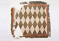 Roman geometric floor mosaic with black and white diamonds shapes. From the Roman villa near Botte, Rome. 1st century BC . National Roman Museum, Rome, Italy