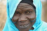 A woman in the Hassa Hissa Camp for internally displaced persons, outside Zalingei in Sudan's violence-torn Darfur region.