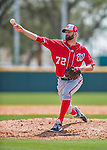 29 February 2016: Washington Nationals pitcher Burke Badenhop on the mound during an inter-squad pre-season Spring Training game at Space Coast Stadium in Viera, Florida. Mandatory Credit: Ed Wolfstein Photo *** RAW (NEF) Image File Available ***