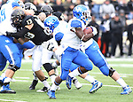 UK running back Raymond Sanders runs the ball during the first half of the University of Kentucky vs. Vanderbilt University football game at Vanderbilt Stadium in Nashville, Tenn., on Saturday, November 16, 2013. Vanderbilt won 22-6. Photo by Tessa Lighty | Staff