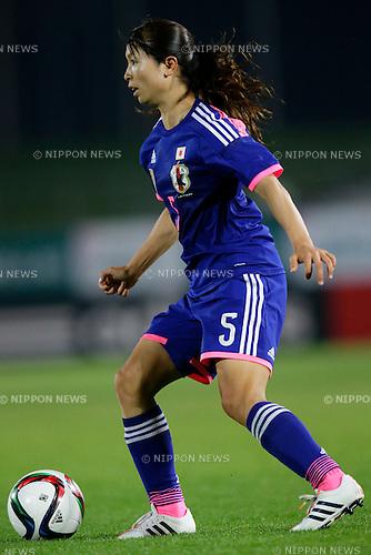 Aya  Sameshima (JPN), <br /> MAY 24, 2015 - Football / Soccer : MS&amp;AD Nadeshiko Cup 2015 match between Womens Japan and Womens New Zealand at Marugame stadium, Kagawa, Japan. (Photo by AFLO)