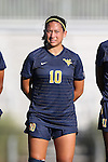 06 September 2013: West Virginia's Jess Crowder. The Duke University Blue Devils hosted the West Virginia University Mountaineers at Koskinen Stadium in Durham, NC in a 2013 NCAA Division I Women's Soccer match. The game ended in a 1-1 tie after two overtimes.