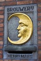 Belgique, Flandre-Occidentale, Bruges: Brasserie Halve Maan qui produit depuis 1546,  sa bière blonde la Brugse Zot   //  Belgium, Western Flanders, Bruges, Halve Maan brewery that produces since 1546, its lager Brugse Zot
