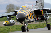 German Tornado in tiger paint scheme. Nato Tiger Meet is an annual gathering of squadrons using the tiger as their mascot. While originally mostly a social event it is now a full military exercise. Tiger Meet 2012 was held at the Norwegian air base Ørlandet.