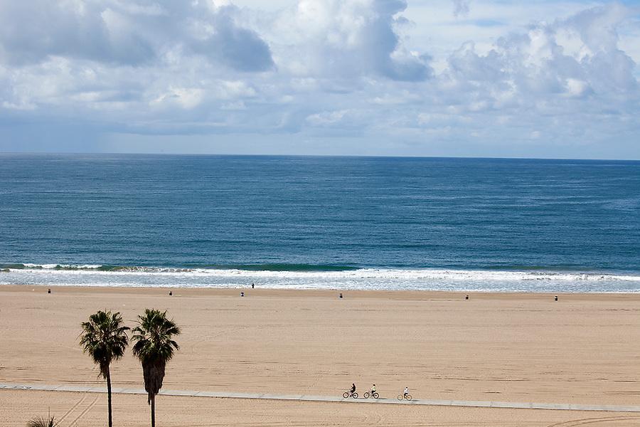 Pacific Ocean in Santa Monica, California, CA, USA