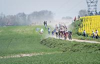 approaching dust cloud<br /> <br /> 115th Paris-Roubaix 2017 (1.UWT)<br /> One Day Race: Compi&egrave;gne &rsaquo; Roubaix (257km)