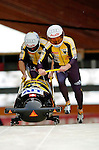 19 November 2005: Martin Annen pilots the Switzerland 1 sled to a disappointing 21st place finish after a second run crash at the 2005 FIBT AIT World Cup Men's 2-Man Bobsleigh Tour at the Verizon Sports Complex, in Lake Placid, NY. Mandatory Photo Credit: Ed Wolfstein.
