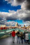 Millenium Bridge and St Pauls Cathedral, London, UK