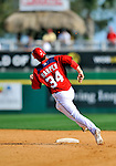 2 March 2011: Washington Nationals outfielder Bryce Harper rounds the bases during Spring Training action against the Florida Marlins at Space Coast Stadium in Viera, Florida. The Nationals defeated the Marlins 8-4 in Grapefruit League action. Mandatory Credit: Ed Wolfstein Photo
