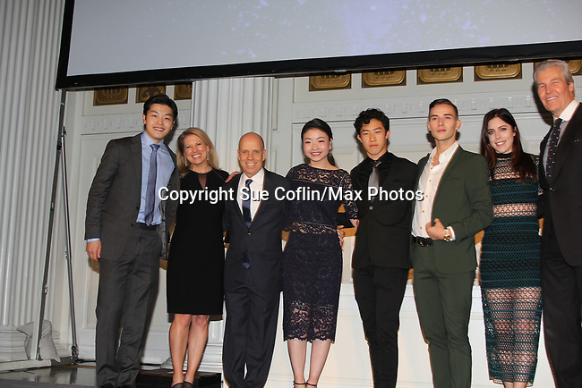 Figure Skating in Harlem celebrates 20 years - Champions in Life benefit Gala on May 2, 2017 at 583 Park Avenue, New York City, New York. Attending are Alex and Maia Shibutani, Scott Hamilton, Adam Rippon, Ashley Wagner. (Photo by Sue Coflin/Max Photos)
