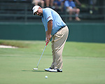 Brendan de Jonge putts on the 18th hole at the PGA FedEx St. Jude Classic at TPC Southwind in Memphis, Tenn. on Thursday, June 9, 2011.
