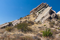 This formation at Vasquez Rocks is immediately behind the primary formation that's been featured on many TV shows and movies.