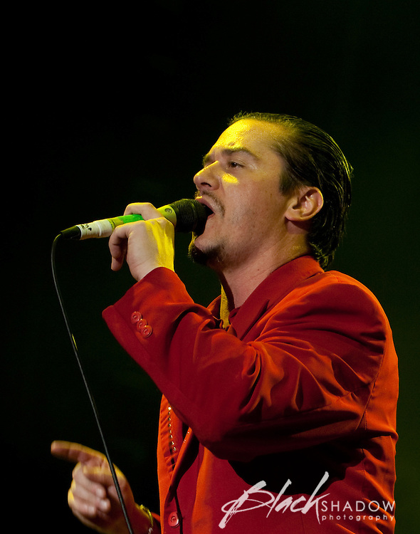 Faith No More performing at the Soundwave Festival, Melbourne Show Ground, 26 February 2010