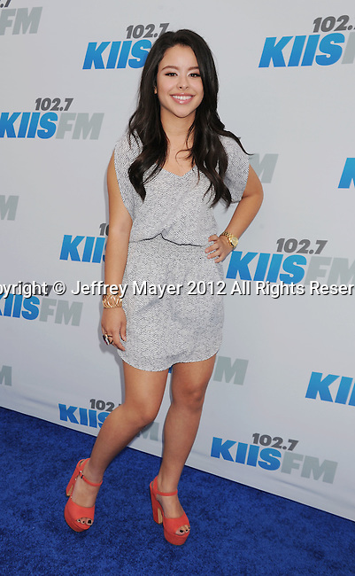CARSON, CA - MAY 12: Cierra Ramirez attends 102.7 KIIS FM's Wango Tango at The Home Depot Center on May 12, 2012 in Carson, California.