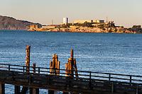 United States, California, San Francisco. Alcatraz from Fort Mason.