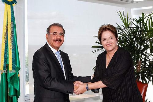 Danilo y Dilma Rousseff, la destituida presenta de Brasil