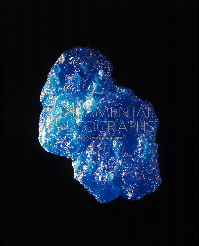 CUPRIC SULFATE PENTAHYDRATE CRYSTAL<br /> CuSO4*5H2O (Copper II Sulfate)<br /> Large transparent blue triclinic crystal, &quot;Bluestone&quot;.