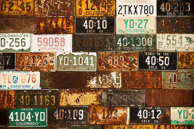 Old Colorado License Plates.