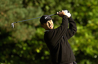 Photo Peter Spurrier.19/10/2002 Sat.CISCO World Matchplay Championships - Wentworth.Michael Campbell drive 2nd tee..[Mandatory Credit Peter Spurrier/ Intersport Images]