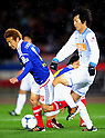 Shingo Hyodo (F Marinos), Kazuya Yamamura (Antlers),.MARCH 31, 2012 - Football / Soccer :.2012 J.League Division 1 match between Yokohama F Marinos 0-0 Kashima Antlers at Nissan Stadium in Kanagawa, Japan. (Photo by AFLO)