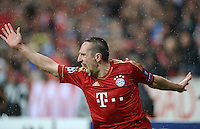 FUSSBALL   CHAMPIONS LEAGUE  VIERTELFINAL RUECKSPIEL   2011/2012      FC Bayern Muenchen - Olympic Marseille          03.04.2012 JUBEL; Franck Ribery (FC Bayern Muenchen)