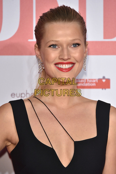 Toni Garrn <br /> arrivals at London's Fabulous Fund Fair 2016 in aid of the Naked Heart Foundation at Old Billingsgate Market on 20th February 2016.<br /> CAP/PL<br /> &copy;Phil Loftus/Capital Pictures