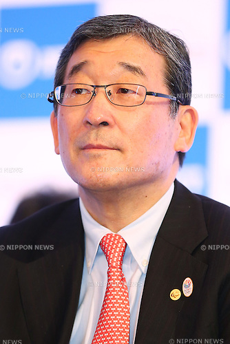 Yasushi Yamawaki,<br /> JANUARY 26, 2015 : <br /> NTT corporation has Press conference at Hotel Okura Tokyo.<br /> NTT corporation today announced that it has entered into a partnership agreement with the Tokyo Organising Committee of the Olympic and Paralympic Games.<br /> (Photo by Shingo Ito/AFLO SPORT)